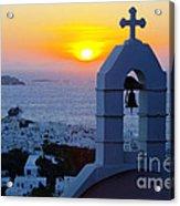 0209 Mykonos Sunset Acrylic Print