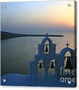 0210 Oia Sunset Acrylic Print