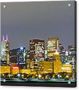 0247 Chicago Skyline Panoramic Acrylic Print