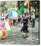 0263-jingshan Park - Light Color Pencils Sl Acrylic Print