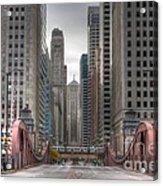 0295 Lasalle Street Chicago Acrylic Print