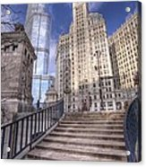 0499 Trump Tower And Wrigley Building Chicago Acrylic Print