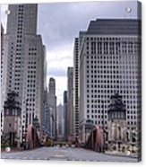 0500 Lasalle Street Bridge Chicago Acrylic Print