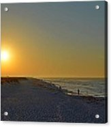 0501 Navarre Beach Sunrise Over Fishermen Acrylic Print