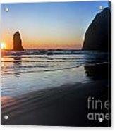 0519 Cannon Beach Sunset 3 Acrylic Print