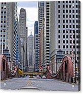 0525 Lasalle Street Bridge Chicago Acrylic Print