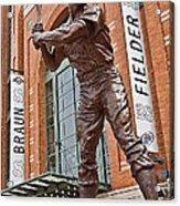 0620 Hank Aaron Statue Acrylic Print
