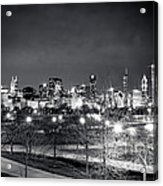 0647 Chicago Black And White Acrylic Print