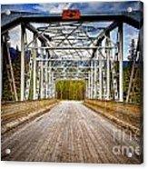 0649 Bow River Bridge Acrylic Print