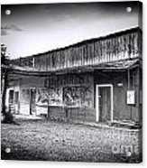 0706 Jerome Ghost Town Black And White Acrylic Print