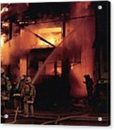 071506-4 Cleveland Firefighters On The Job Acrylic Print