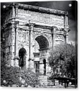 0791 The Arch Of Septimius Severus Black And White Acrylic Print