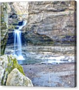 0940 Cascade Falls - Matthiessen State Park Acrylic Print