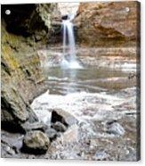 0941 Cascade Falls - Matthiessen State Park Acrylic Print