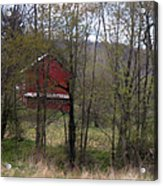Red Country Barn Acrylic Print