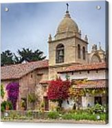 Facade Of The Chapel Mission San Carlos Borromeo De Carmelo Acrylic Print by Ken Wolter