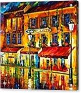 Paris Night Montmartre Acrylic Print