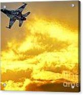 1-iaf F-16i Fighter Jet Acrylic Print