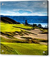 #16 At Chambers Bay Golf Course - Location Of The 2015 U.s. Open Tournament Acrylic Print by David Patterson