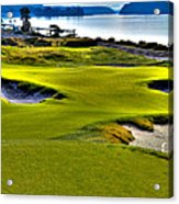 #17 At Chambers Bay Golf Course - Location Of The 2015 U.s. Open Championship Acrylic Print by David Patterson