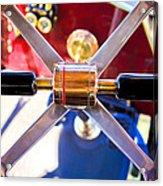1907 Panhard Et Levassor Demi Toneau 38 Hp Steering Wheel Acrylic Print by Jill Reger