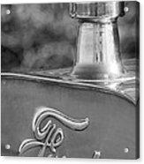 1911 Ford Model T Torpedo 4 Cylinder 25 Hp Hood Ornament  Emblem Acrylic Print