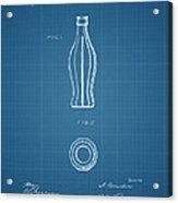 1915 Coca Cola Bottle Design Patent Art 3 Acrylic Print
