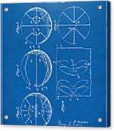 1929 Basketball Patent Artwork - Blueprint Acrylic Print