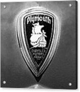 1930 Chrysler Plymouth Emblem Acrylic Print