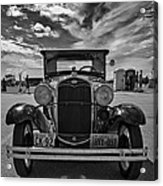 1931 Model T Ford Monochrome Acrylic Print