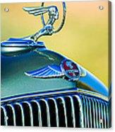 1933 Pontiac Hood Ornament - Emblem Acrylic Print