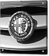 1934 Alfa Romeo 8c Zagato Emblem Acrylic Print