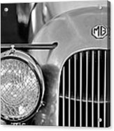 1934 Mg Pa Midget Supercharged Special Speedster Grille Acrylic Print by Jill Reger