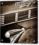 1935 Reo Speed Wagon 6ap Pickup Emblem Acrylic Print