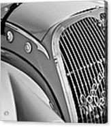 1937 Peugeot 402 Darl'mat Legere Special Sport Roadster Recreation Grille Emblem Acrylic Print