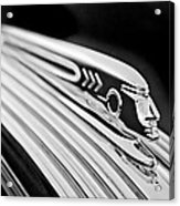 1937 Pontiac Chief Custom Hood Ornament Acrylic Print