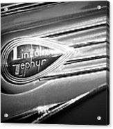 1938 Lincoln Zephyr Emblem Acrylic Print
