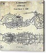 1939 Motorcycle Patent Drawing Acrylic Print