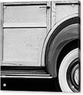 1940 Packard 120 Woody Station Wagon Wheel Emblem Acrylic Print