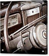 1941 Packard Steering Wheel Emblem Acrylic Print