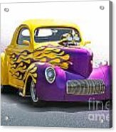 1941 Willys 'pro Street' Coupe Acrylic Print