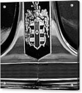 1948 Dodge D24 Club Coupe Emblem Acrylic Print by Jill Reger