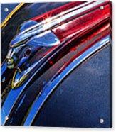 1948 Pontiac Silver Streak Hood Ornament Acrylic Print