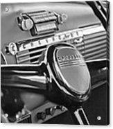 1950 Chevrolet 3100 Pickup Truck Steering Wheel Acrylic Print