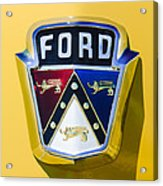 1950 Ford Custom Deluxe Station Wagon Emblem Acrylic Print