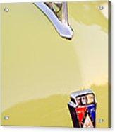 1950 Ford Hood Ornament - Emblem Acrylic Print