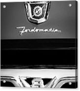1950's Ford F-100 Pickup Truck Grille Emblems Acrylic Print