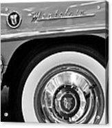 1951 Mercury Montclair Convertible Wheel Emblem Acrylic Print