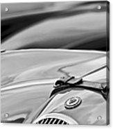 1952 Jaguar Xk 120 John May Speciale Hood Emblem Acrylic Print