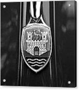 1952 Volkswagen Vw Emblem Acrylic Print